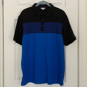 Calvin Klein Blue and black short sleeve polo